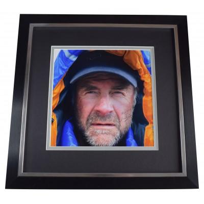 Ranulph Fiennes Signed Framed Large Square Photo Autograph Mount Everest COA AFTAL Perfect Gift Memorabilia
