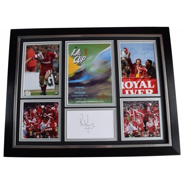 Rob Jones Signed Autograph framed 16x12 photo display Liverpool FA Cup 1992 COA AFTAL Perfect Gift Memorabilia