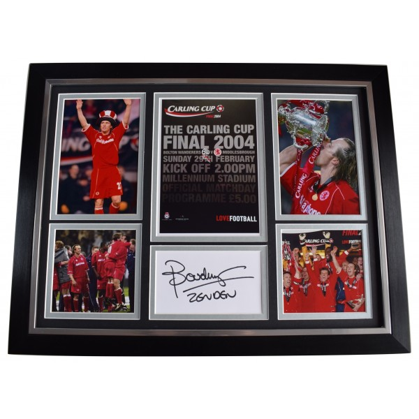 Bolo Zenden Signed Autograph framed photo display Middlesbrough League Cup 2004 AFTAL Perfect Gift Memorabilia