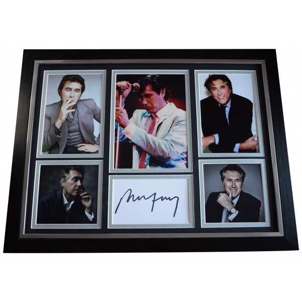 Bryan Ferry Signed Autograph 16x12 framed photo display Roxy Music AFTAL COA AFTAL Perfect Gift Memorabilia