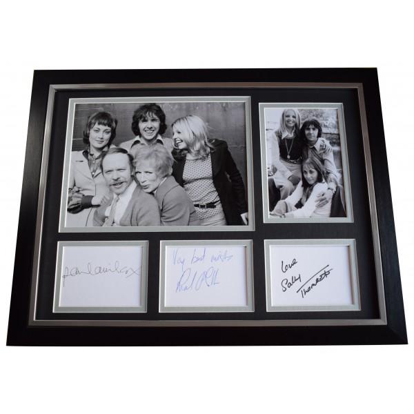 Sally Thomsett Richard O'Sullivan Paula Willcox Signed 3 Autograph framed photo AFTAL Perfect Gift Memorabilia