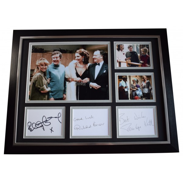 Richard Briers Felicity Kendal Penelope Keith Signed x3 Autograph framed photo AFTAL Perfect Gift Memorabilia