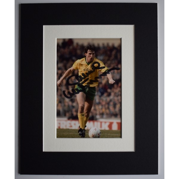 Dave Watson Signed Autograph 10x8 photo display Norwich City Football AFTAL COA Perfect Gift Memorabilia