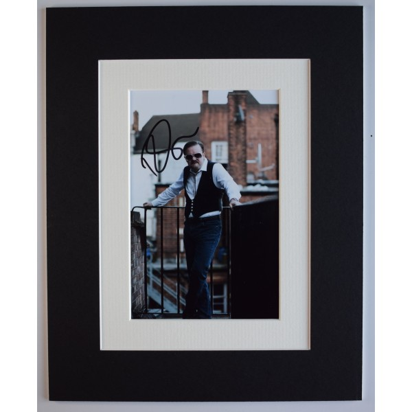 Ricky Gervais Signed Autograph 10x8 photo display Office TV Film David Brent COA AFTAL Perfect Gift Memorabilia