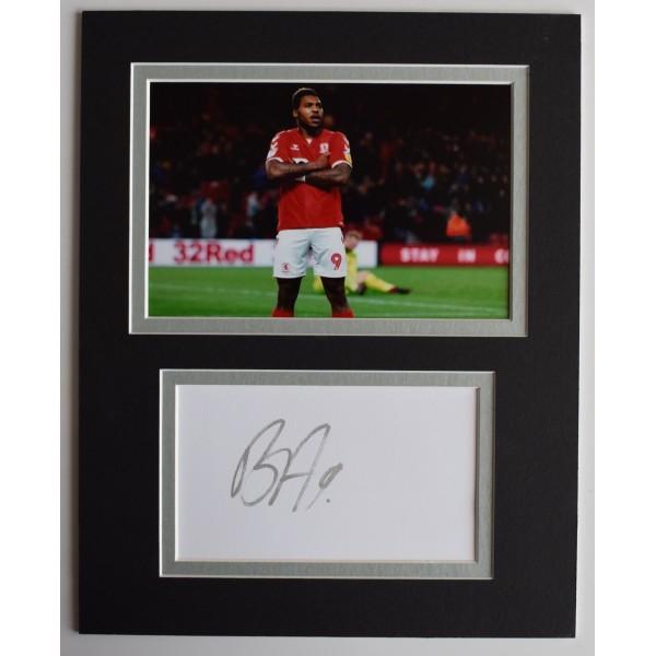 Britt Assombalonga Signed Autograph 10x8 photo display Football Middlesbrough AFTAL Perfect Gift Memorabilia