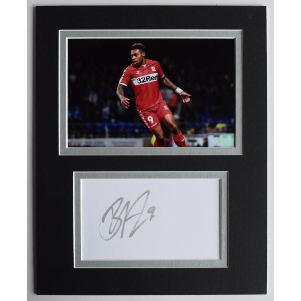 Britt Assombalonga Signed Autograph 10x8 photo display Middlesbrough Football AFTAL Perfect Gift Memorabilia