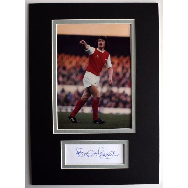 Brian Talbot Signed Autograph A4 photo display Arsenal Football AFTAL & COA AFTAL Perfect Gift Memorabilia