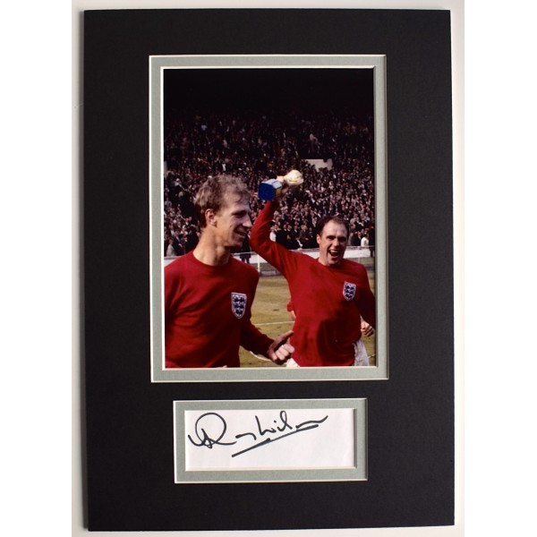 Ray Wilson Signed Autograph A4 photo display England World Cup 1966 AFTAL & COA Perfect Gift Memorabilia