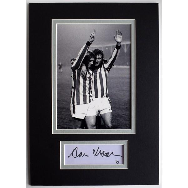 Alan Hudson Signed Autograph A4 photo display Stoke City Football AFTAL & COA Perfect Gift Memorabilia