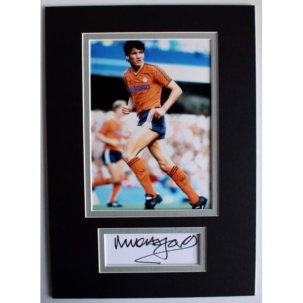 Mick Harford Signed Autograph A4 photo display Luton Town Football COA AFTAL Perfect Gift Memorabilia
