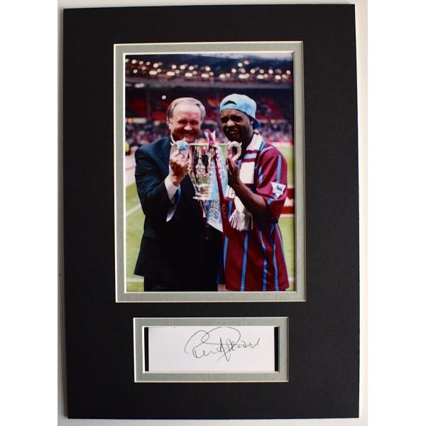 Ron Atkinson Signed Autograph A4 photo display Aston Villa Football COA AFTAL Perfect Gift Memorabilia