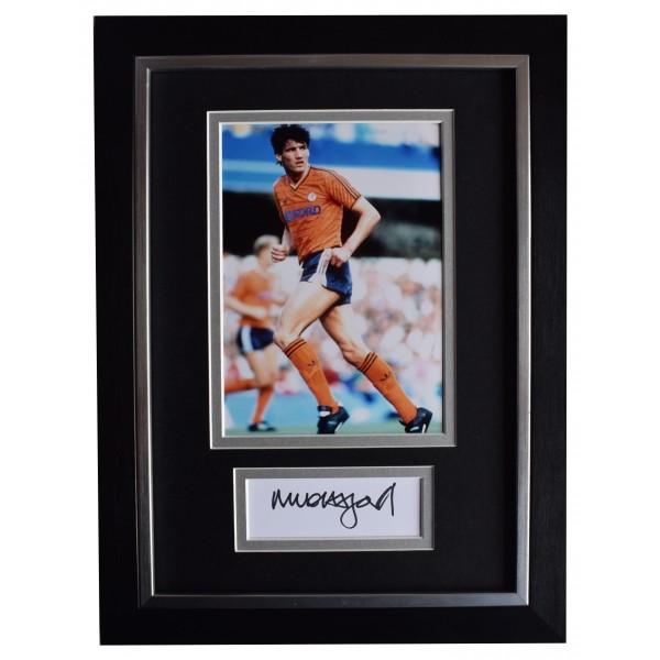 Mick Harford Signed A4 Framed Autograph Photo Display Luton Town Football COA AFTAL Perfect Gift Memorabilia