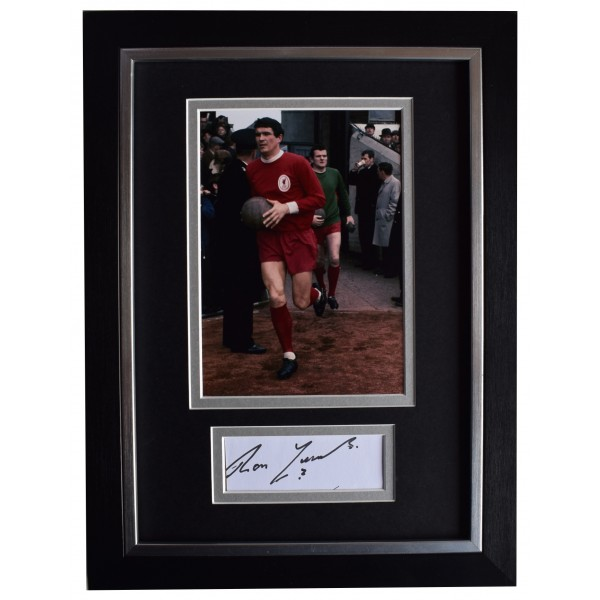 Ron Yeats Signed A4 Framed Autograph Photo Display Liverpool Football AFTAL COA Perfect Gift Memorabilia