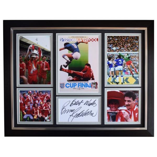Bruce Grobbelaar Signed Autograph framed 16x12 photo display Liverpool FA 1996 AFTAL Perfect Gift Memorabilia