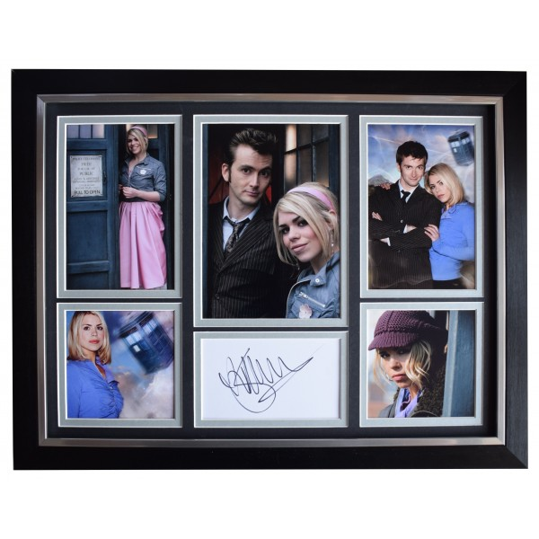 Billie Piper Signed Autograph framed 16x12 photo display Doctor Dr Who COA AFTAL Perfect Gift Memorabilia