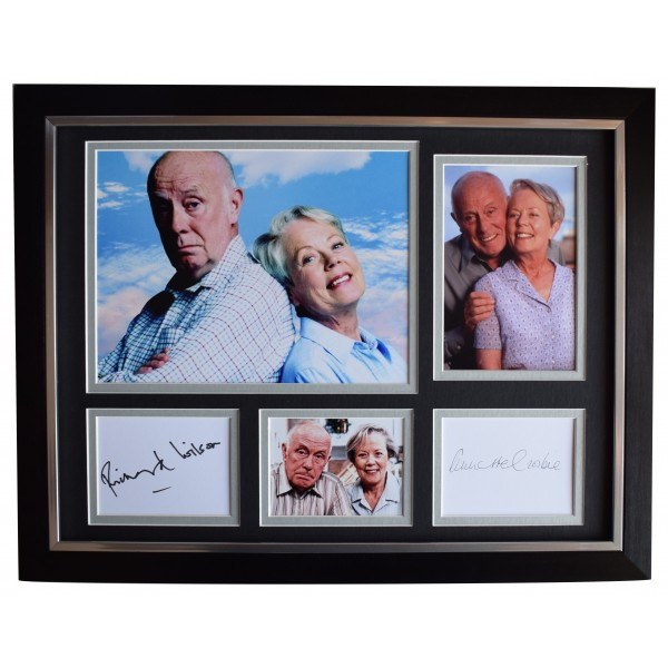 Richard Wilson & Annette Crosbie Signed Autograph x2 framed 16x12 photo display AFTAL Perfect Gift Memorabilia