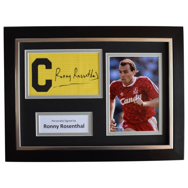 Ronny Rosenthal Signed Framed Captains Armband photo A4 Display Liverpool AFTAL Perfect Gift Memorabilia