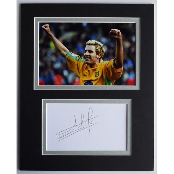 Darren Huckerby Signed Autograph 10x8 photo display Norwich City Football COA AFTAL Perfect Gift Memorabilia