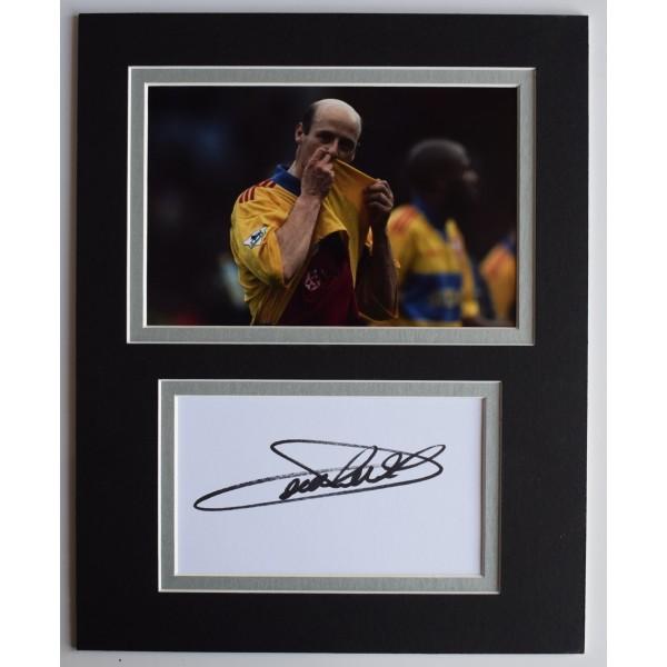 Attilio Lombardo Signed Autograph 10x8 photo display Crystal Palace COA AFTAL Perfect Gift Memorabilia