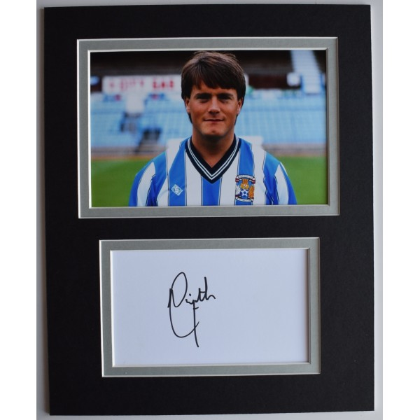 Micky Adams Signed Autograph 10x8 photo display Coventry City Football COA AFTAL Perfect Gift Memorabilia