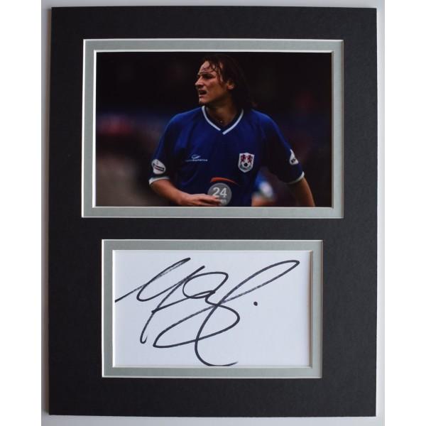 Marc Bircham Signed Autograph 10x8 photo display Millwall Football COA AFTAL Perfect Gift Memorabilia