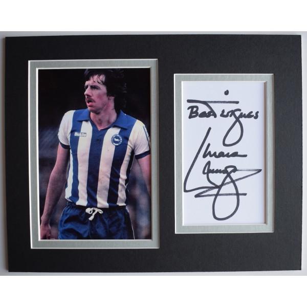 Mark Lawrenson Signed Autograph 10x8 photo display Brighton Hove Albion AFTAL Perfect Gift Memorabilia