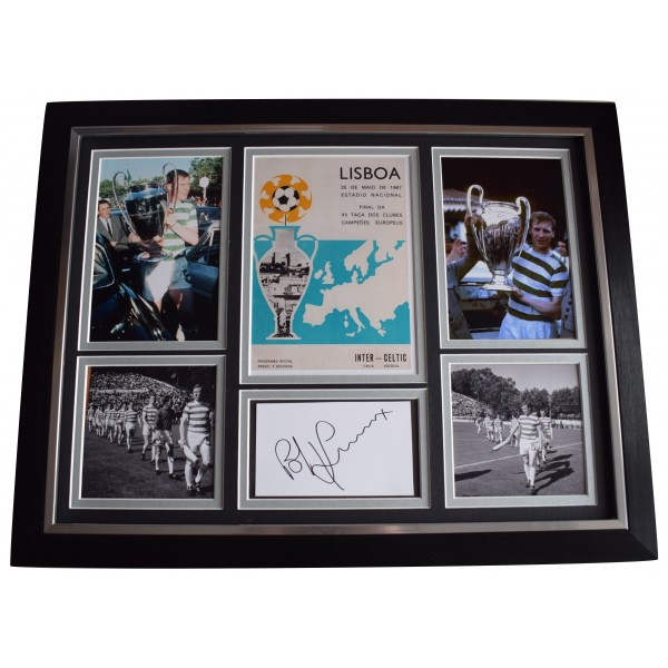 Bobby Lennox Signed Autograph framed photo display Euro Cup Celtic Lisbon Lions AFTAL Perfect Gift Memorabilia