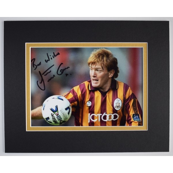 Stuart McCall Signed Autograph 10x8 photo display Bradford City Football AFTAL Perfect Gift Memorabilia