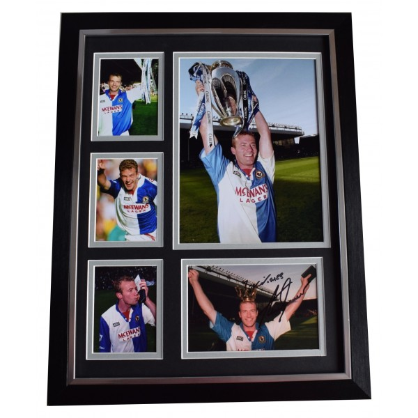 Alan Shearer Signed Autograph framed 16x12 photo display Blackburn Rovers AFTAL Perfect Gift Memorabilia