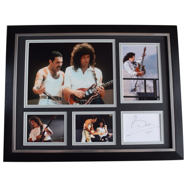 Brian May Signed Autograph framed 16x12 photo display Music Queen AFTAL COA Perfect Gift Memorabilia