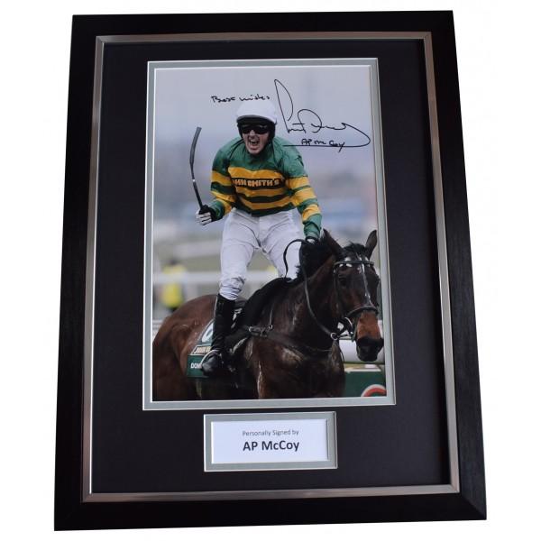 AP McCoy Tony Signed Autograph framed 16x12 photo display Horse Racing COA AFTAL Perfect Gift Memorabilia