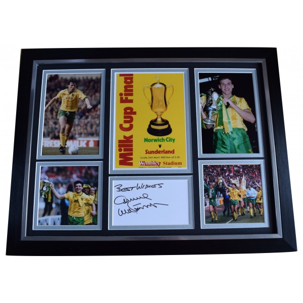 Dave Watson Signed Autograph framed 16x12 photo display Norwich 1985 League Cup AFTAL Perfect Gift Memorabilia