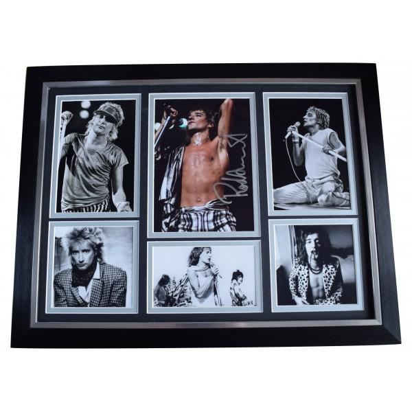 Rod Stewart Signed Autograph framed 16x12 photo display Music Faces Sailing COA AFTAL Perfect Gift Memorabilia