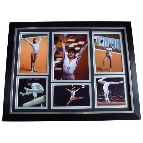Nadia Comaneci Signed Autograph framed 16x12 photo display Gymnastics COA AFTAL Perfect Gift Memorabilia