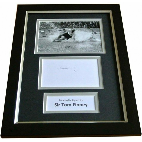 Tom Finney Signed A4 FRAMED Photo Autograph Display Preston North End & COA AFTAL Perfect Gift Memorabilia