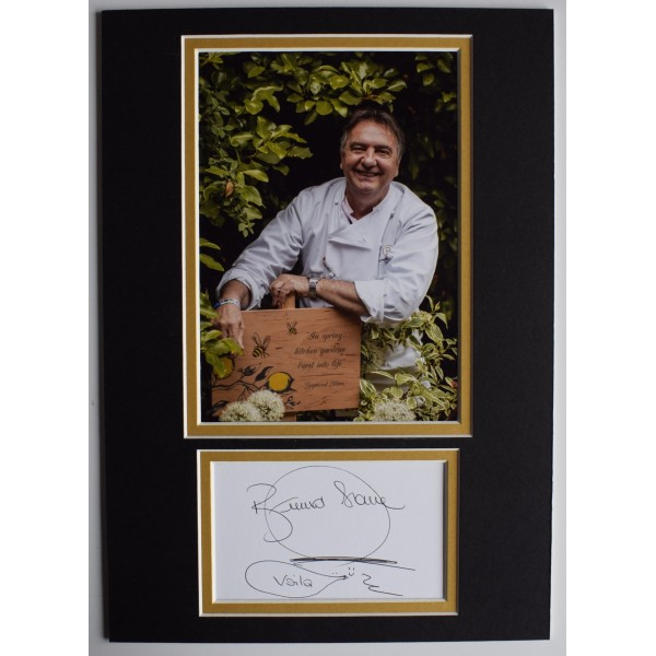 Raymond Blanc Signed Autograph A4 photo display TV Chef Michelin AFTAL COA Perfect Gift Memorabilia