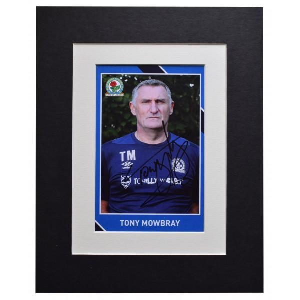 Tony Mowbray Autograph 10x8 photo display Blackburn Rovers Football AFTAL COA Perfect Gift Memorabilia