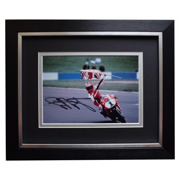 Carl Fogarty Signed 10x8 Framed Autograph Photo Mount Superbikes Sport AFTAL COA Perfect Gift Memorabilia