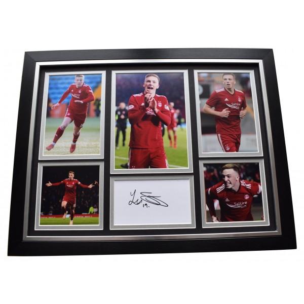 Lewis Ferguson Signed Framed Autograph 16x12 photo display Aberdeen Football COA  Perfect Gift Memorabilia