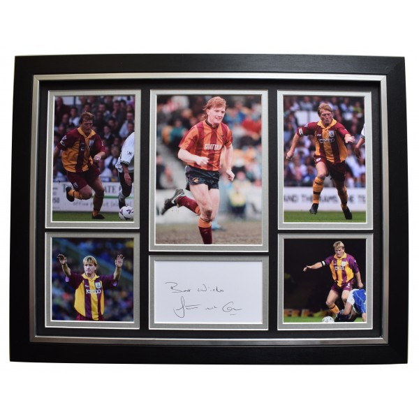 Stuart McCall Signed Framed Autograph 16x12 photo display Bradford City & COA Perfect Gift Memorabilia