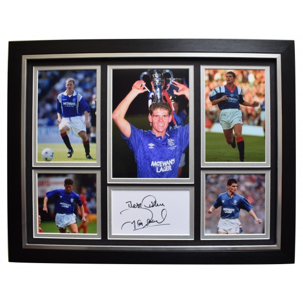 Ian Durrant Signed Framed Autograph 16x12 photo display Rangers Football COA Perfect Gift Memorabilia