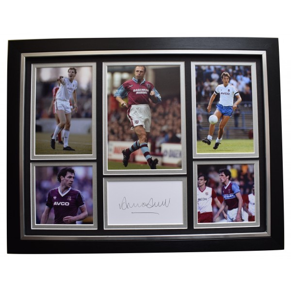 Alvin Martin Signed Framed Autograph 16x12 photo display West Ham United COA  Perfect Gift Memorabilia