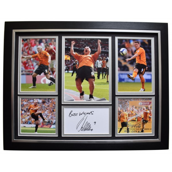 Dean Windass Signed Framed Autograph 16x12 photo display Hull City Football COA Perfect Gift Memorabilia