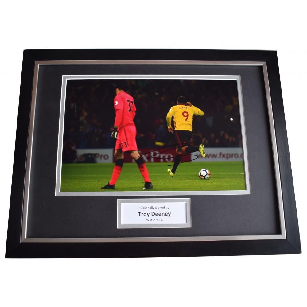 5a365b0997e Troy Deeney Signed Framed Photo Autograph 16x12 display Watford Football  COA Perfect Gift Memorabilia
