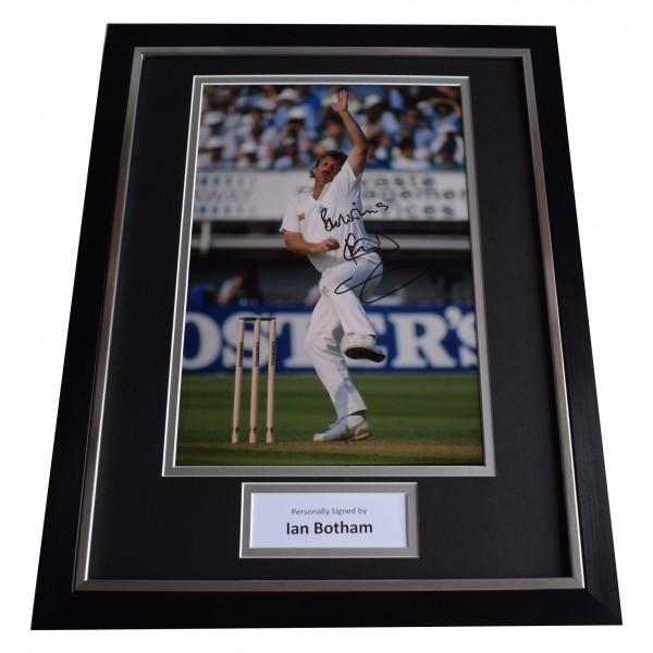 Ian Botham Signed Framed Photo Autograph 16x12 display England Cricket & COA Perfect Gift Memorabilia