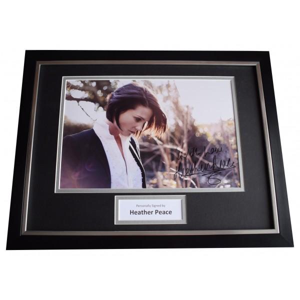 Heather Peace Signed Framed Photo Autograph 16x12 display Music AFTAL & COA Perfect Gift Memorabilia