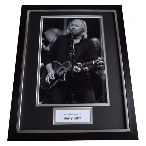 Barry Gibb Signed Framed Photo Autograph 16x12 display Bee Gees Music COA Perfect Gift Memorabilia
