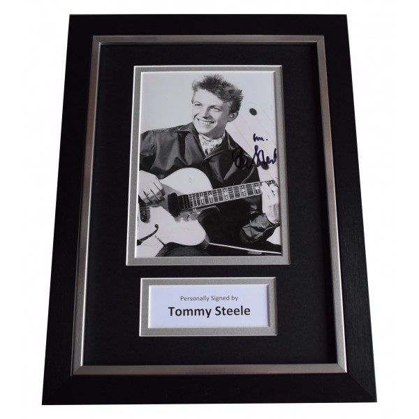 Tommy Steele Signed A4 Framed Autograph Photo Display Music AFTAL COA Perfect Gift Memorabilia