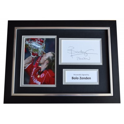 Bolo Zenden Signed A4 Framed Autograph Photo Display Middlesbrough Football COA Perfect Gift Memorabilia