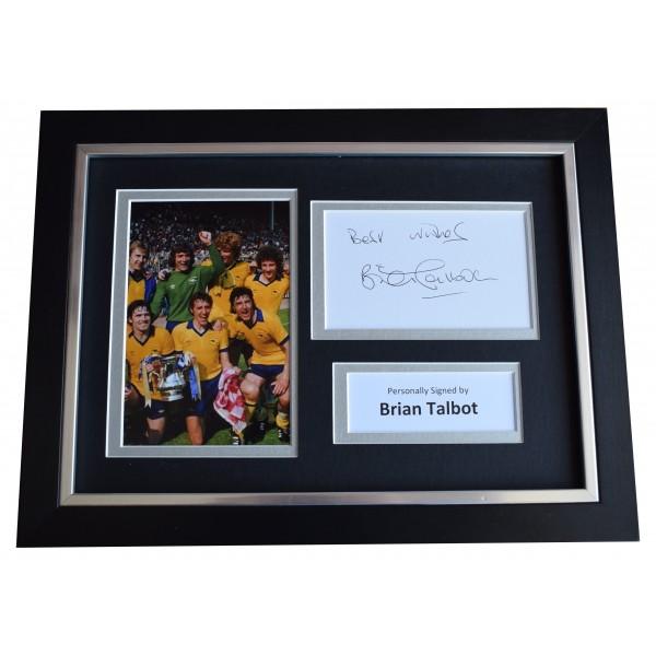 Brian Talbot Signed A4 Framed Autograph Photo Display Arsenal Football COA Perfect Gift Memorabilia